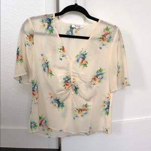 Madewell floral blouse size 6
